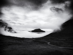 Islands in the Mist (Feldore) Tags: faroeislands faroe islands fog mist misty sea island clouds moody landscape feldore mchugh em1 olympus 1240mm foggy eerie mysterious