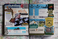 (Theresa Best) Tags: travel wanderlust journal book scrapbook collage collection colorado wyoming badlands southdakota weed marajuana cannabis dispensary winterpark canon canon760d canont6s canon8000d theresabest