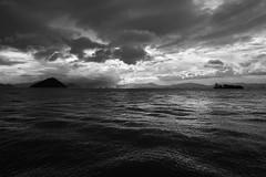 Ocean (Alexander K L Chan) Tags: blackandwhite bnw bw sky clouds sea ocean outdoor hongkong hk sony a99