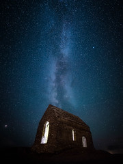 St Michael's Chapel (Timothy Gilbert) Tags: night milkyway wideangle ultrawide lumix laowacompactdreamer75mmf20 astrophotography stmichaelschapel m43 microfourthirds nightsky microfournerds lovecornwall ramehead gx8 panasonic cornwall