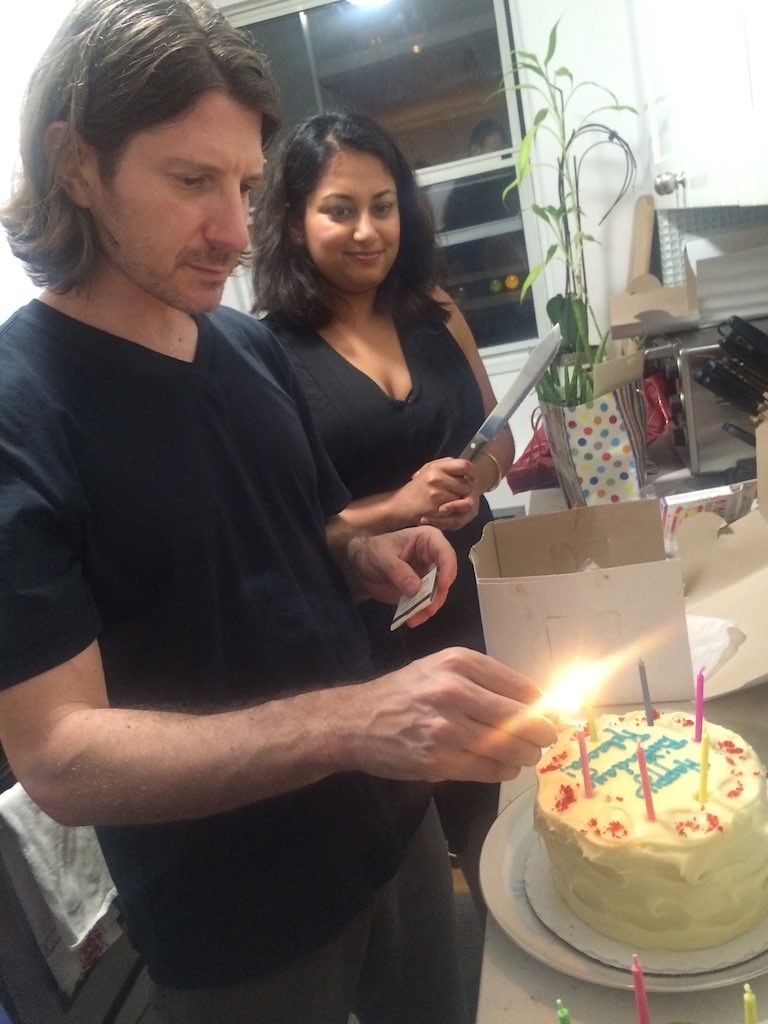 Matt And Shruti Lighting Candles Olive Witch Tags 2016 Abeerhoque Cake Indoors