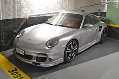 Porsche 911 Turbo 997 (Monde-Auto Passion Photos) Tags: voiture vehicule auto automobile porsche 911 turbo 997 coupé sportive supercar rareté parking sous sousterrain france fontainebleau