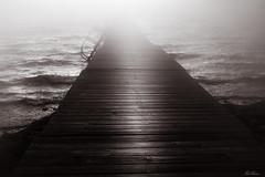 "Misty Bridge (bobban25) Tags: gul canon eos 80d efs18135mm f3556 is stm linköping östergötland sverige sweden scandinavia canoneos80d canon80d canonefs18135 lee mist filter blackandwhite bw ""artinbw water vatten sunset roxen lake sjö ekängen brygga brew bridge"