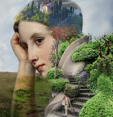 Feelings (jaci XIII) Tags: sentimentos pessoa mulher jardim escada homem feelings person woman garden stair man