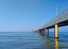 Il pontile di Marina di Pietrasanta (Darea62) Tags: sea architecture travel bridge sky pietrasanta versilia marinadipietrasanta tuscany pier jetty seascape landscape panorama paesaggio huawei nova