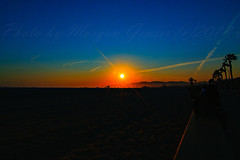 03 (morgan@morgangenser.com) Tags: sunset red orangeyellow blue pretty cloud silhouette sun evening dusk palmtrees bikepath sand beach santamonica pacificpalisades beautiful black dark cement amazing gorgeous inawe ca photobymorgangenser