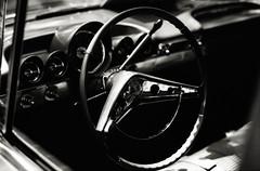 Chevy (johnlishamer.com) Tags: 2017 35mm bw chevrolet chevy fathersday ilfordpanf50 impala lishamer nikonf3 oakbrookmall slr carshow classiccars film johnlishamercom pushedto100 rodinal sunny sunshine