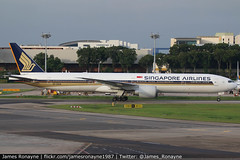 9V-SWM   Boeing 777-312ER   Singapore Airlines (james.ronayne) Tags: 9vswm boeing 777312er singapore airlines aeroplane airplane plane aircraft jet jetliner airliner aviation flight flying changi sin wsss canon 80d 100400mm raw