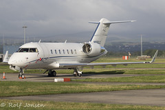 N650LC Bombardier Challenger 650 Private Glasgow airport EGPF 16.08-18 (rjonsen) Tags: plane airplane aircraft aviation business jet corpoprate
