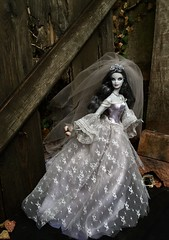 I regarded her with an utter astonishment... (MaxxieJames) Tags: zombie bride barbie doll collector haunted beauty collection ghost ghostly phantom gothic mattel corpse wedding
