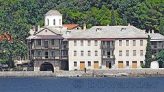 Greece, Macedonia, Aegean Sea,  monastery view from a boat cruising around Mount Athos peninsula (Macedonia Travel & News) Tags: greecemacedonia agiooros cruise chalkidiki aegeansea macedoniatravel greece makedonia macedoniatimeless macedonian macédoine mazedonien μακεδονια ancient greek culture vergina sun blog star thessaloniki hellenic republic prilep tetovo bitola kumanovo veles gostivar strumica stip struga negotino kavadarsi gevgelija skopje debar matka ohrid mavrovo heraclea lyncestis history alexander great philip macedon nato eu fifa uefa un fiba macedonianstar verginasun macedoniapeople macedonians peopleofmacedonia macedonianpeople macedoniablog macedoniagreece timeless македонија macedonianews macedoniapress македонијамакедонскимакедонци tourisminmacedonia