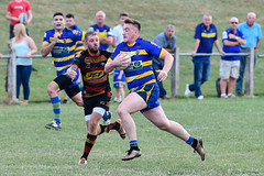You won't stop him too quickly now (Steve Barowik) Tags: yorkshire westyorkshire nikond500 barowik leeds ls26 stevebarowik sbofls26 rugbyleague rl nationalleague 70200mmf28gvrii sport competition try conversion penalty sinbin referee linesman ball pitch sticks posts team watercarrier dx cropframe kick pass offload dropkick forwardpass centre wing prop forward back fullback unlimitedphotos wonderfulworld quantumentanglement oultonraiders shawcrosssharks nationalconferencedivisionone
