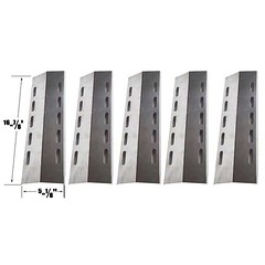 5-PACK-STAINLESS-STEEL-HEAT-SHIELD-FOR-DUCANE-5-BURNER-30500701-30500097-HOME-DEPOT-30400042-GAS-MODELS (grillpartszone) Tags: stainless steel heat shield ducane