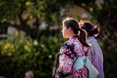 Obon Festival, Los Angeles, California (paccode) Tags: solemn california d850 colorful candid street people quiet kimono profile costume