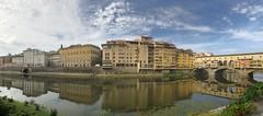 ponte panorama (Rick Payette) Tags: italy iphone8plus arno bridges florence panorama