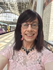 July 2017 - Sparkle weekend in Manchester (Girly Emily) Tags: crossdresser cd tv tvchix tranny trans transvestite transsexual tgirl tgirls convincing feminine girly cute pretty sexy transgender boytogirl mtf maletofemale xdresser gurl glasses manchester sparkle trainstation manchesterpiccadilly piccadilly