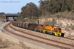 IMG_5888  XRN010 XRN020 XRN001 Black Creek MO219 16.8.18_1 (Brians Railway Collection) Tags: railway xrn010 xrn020 xrn001 gw geneseeandwyoming australia coal hoppers ge xrn class blackcreek newsouthwales