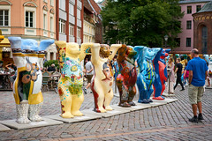 United Buddy Bears | Riga (©Andrey) Tags: united buddy bears riga latvia lettonie lv rix doma laukums old town street summer evening colours figure a7rii sonnartfe1855 sel55f18z exhibition