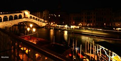Rialto Bridge at night (iJoydeep) Tags: venice venezia italy italia nikon d7000 rialto bridge night gondola hotelmarconi sanmarco marconi tripadvisor bookingdotcom