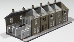 row #1 (IMP_bricks) Tags: lego terracehouses huwmillington english england uk moc studio