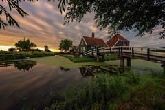Chees factory, Zaanse Schans (reinaroundtheglobe) Tags: zaanseschans nederland holland noordholland worldheritage traveldestination touristdestination dutchlandscape netherlands clouds reflections zaandam zaandijk