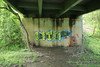 WTH Dissed (NJphotograffer) Tags: graffiti graff new jersey nj bridge wth crew diss dissed beef