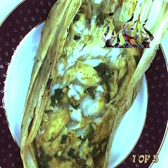 Coal Fired Snapper in Corn Husks slide 1 (Smokinlicious.com) Tags: snapper redsnapper emberfiredsnapper smokedfish grilledfish fishrecipe cornhusks