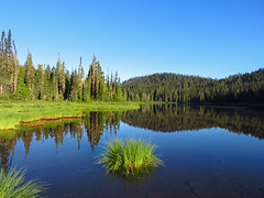 Reflection Lake at Mt. Rainier NP in WA (Landscapes in The West) Tags: mountrainiernationalpark washington pacificnorthwest skylinetrail landscape trail hike west reflectionlake