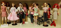 #Barbie #fashiondolls | Middle Shelf , Cabinet 3 (an eclectic collection of dolls) (PoetC7) Tags: fashiondolls barbie