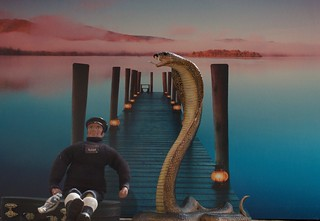 Carl had heard the stories about the giant cobra but didn't believe them for a minute