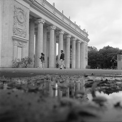 (Scenes from the life of a double monster) Tags: film fuji mediumformat blackandwhite bw blackwhite acros monochrome moscow rollei 6x6 tlr tessar rolleiflex