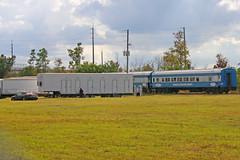 Railcars JES #1 & JES #3, Strates Shows Winter Quarters, Taft, Florida (gg1electrice60) Tags: jamesestratesrailcars railcarjesnumber1 raicarjesnumber3 railcarjesno1 railcarjesno3 railcarjes1 railcars railcarjes3 jamesestratesshows stratesshows winterquarters carnivaltrainquarters stratesheadquarters taft florida fl unitedstates usa us america orangecounty 10600southorangeavenue 10600sorangeave orlando csx csxt csxrailroad csxtracks floridacentralrailroad floridacentralrailway floridacentralrwy canonflickraward canon40d canoneos40d trailers workers people automobile car convertible semitrailers trucktrailers train shortline