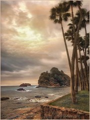 "from the series ""Walks in Italy"". Taormina .Italia. (Sicily) (odinvadim) Tags: mytravelgram iphoneart iphone iphoneography iphoneonly specialist snapseed sunset textures painterlymobileart travel artist textured landscape"