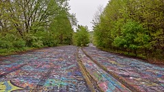 Graffiti Highway, facing south (SchuminWeb) Tags: schuminweb ben schumin web may 2018 centralia columbia county pennsylvania pa graffiti highway state route 61 route61 graffitihighway abandoned road roads highways high way ways urban exploration urbex roadway roadways ghost town ghosttown alignment alignments coal mine fire towns spray paint spraypaint paints spraypaints tag tags tagged tagging infrastructure infrastructural infra structure structural