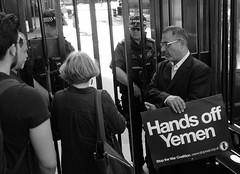Unwelcome VIsitors at Number 10 (alisdare1) Tags: yemen warcrimes downingstreet protest demonstration london saudiarabia uae emirates hodeidah stopthewar