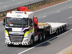 Explore Transport, DAF-XF With Low Loader Trailer. (Gary Chatterton 4 million Views) Tags: exploretransport explorespecialisttransport dafxf lowloader stobartgroup transport motorway truck trucking wagon lorry explore canonpowershot flickr photography hgv heavygoodsvehicle