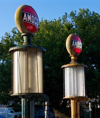 IMG_6152_good old days. (lada/photo) Tags: gaspumps amoco gasoline petro helenga ladaphoto antiques