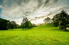 🌅 Sunrise at English Garden (danny_linden) Tags: baern bavaria deutschland englischergarten germany langzeitbelichtung monopteros munich münchen parc park somer sunrise himmel grad berg baum hügel
