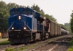 Backlit Big Blue (Joseph Bishop) Tags: gecx 2041 ge et44ac trains train track t tracks railfan railroad railway rail rails beachville ontario cndundassubdivision