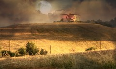 The cottage in the hills (* landscape photographer *) Tags: sunset nature landscape valley hills mountain house moon night cloud sky light scene nice picture perfect wonderful gold reed click nikon 2018 europe flicker
