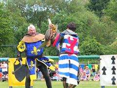 DSCF3640 (SierPinskiA) Tags: ruffordabbeycountrypark rufford knightsofnottingham fujixs1 jousting medieval horse knights goldeneagle falcon