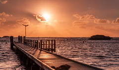 Setting Sun (Jared Beaney) Tags: canon6d canon australia australian travel photography photographer sunset geordiebay rottnest rotto boardwalk jetty bay ocean water westernaustralia