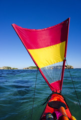 Sail away (Macr1) Tags: 61403327236 adventure ilce5100 sony sonyilce5100 sonyα5100 α5100 ©markmcintosh macr237gmailcom markmcintosh day outdoor sunny coast ocean sea kayak kayaking selp1650 sonyepz1650mmf3556oss australia wa westernaustralia phseakayaks phscorpio pacificactionsails sealisland shagislands shoalwaterbayislandsnaturereserve