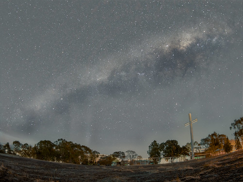 The Milky Way above The Great Cross - Barton - ACT - Australia - 20180624 @ 03:48