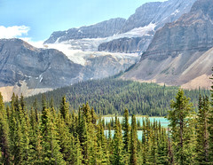 Crowfoot Glacier, Banff National Park Alberta - ICE(5)2773-79 (photos by Bob V) Tags: mountains rockies canadianrockies crowfootglacier glacier mountainglacier panorama mountainpanorama alberta albertacanada banff banffpark banffnationalpark mountainlake