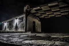 Standing Against The Elements... (Constantinos_A) Tags: sony alpha a6300 outdoors church architecture building night low key long exposure photography spata athens greece neapolis stjohn