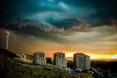 Thunder light and clouds (Ömer Ünlü) Tags: thunder thunderstorm lightining weather extreme nature outdoor flash city cityscape rain ankara turkey ömerünlü