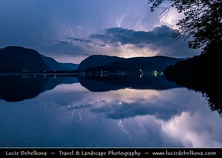 Slovenia - Julian Alps - Triglavski NP & Bohinj Lake during Stormy Night