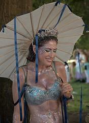 Smile and Laugh (Scott 97006) Tags: mermaid woman costume glitter beauty bikini sparkle crown smiling