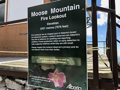 Moose Mountain Hike - Lookout info (benlarhome) Tags: kananaskis alberta canada braggcreek moosemountain hike hiking trek trekking trail path